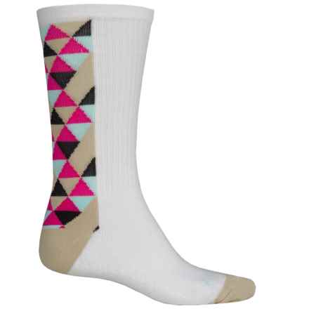 SockGuy High-Performance Pattern Socks - Crew (For Men and Women) in Delta - Closeouts