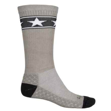 SockGuy High-Performance Pattern Socks - Crew (For Men and Women) in Stars - Closeouts