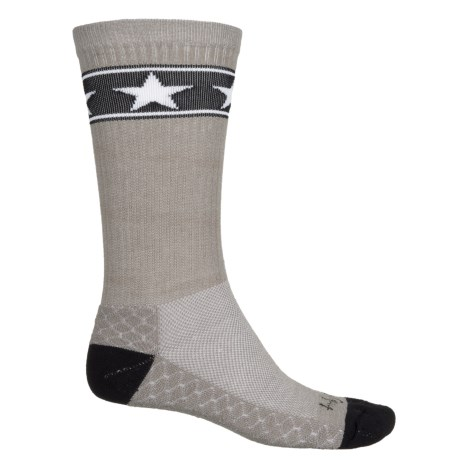 SockGuy High-Performance Pattern Socks - Crew (For Men and Women) in Stars