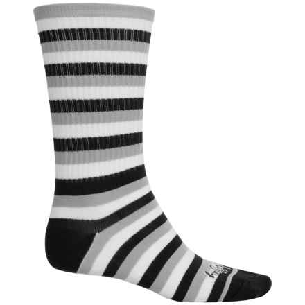 SockGuy High-Performance Socks - Crew (For Men and Women) in Stripes - Closeouts