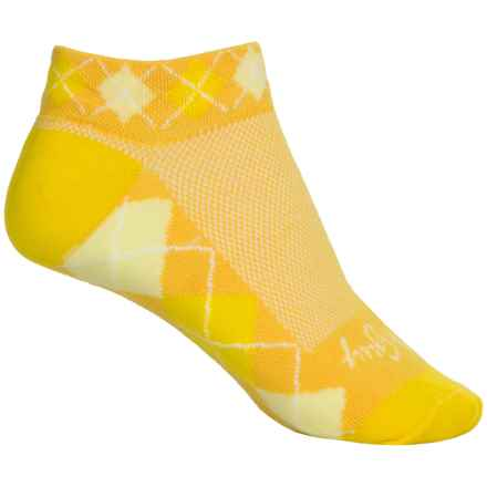 SockGuy Print-Cuff Socks - Ankle (For Women) in Lemon - Closeouts