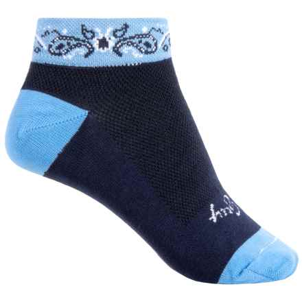 SockGuy Print-Cuff Socks - Ankle (For Women) in Paisley - Closeouts