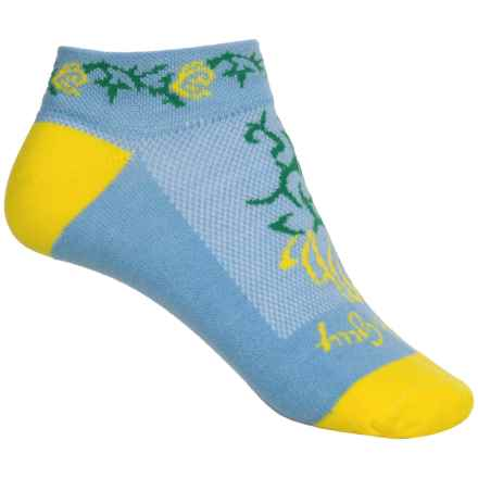 SockGuy Print-Cuff Socks - Ankle (For Women) in Petal - Closeouts
