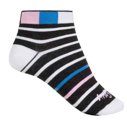 SockGuy Print-Cuff Socks - Ankle (For Women) in Plenty Good - Closeouts