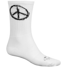 "SockGuy SGX 6"" Socks - Crew (For Men and Women) in Peace - Closeouts"