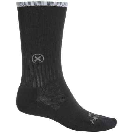 SockGuy SGX Compression Socks - Crew (For Men and Women) in Black - Closeouts