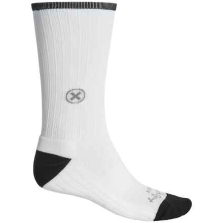 SockGuy SGX Compression Socks - Crew (For Men and Women) in White - Closeouts