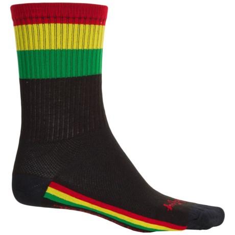 SockGuy Socks - Crew (For Men and Women) in Safety