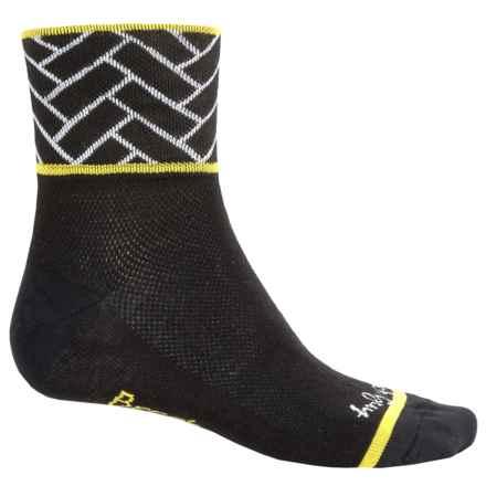 SockGuy Standard Socks - Quarter Crew (For Men and Women) in Breakaway - Closeouts
