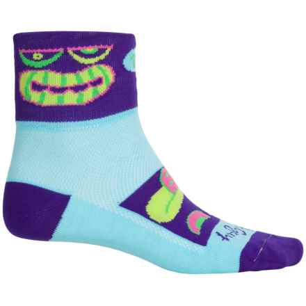 SockGuy Standard Socks - Quarter Crew (For Men and Women) in Faces - Closeouts