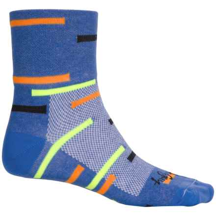 SockGuy Standard Socks - Quarter Crew (For Men and Women) in Frogger - Closeouts