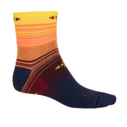 SockGuy Standard Socks - Quarter Crew (For Men and Women) in Wing Ding - Closeouts