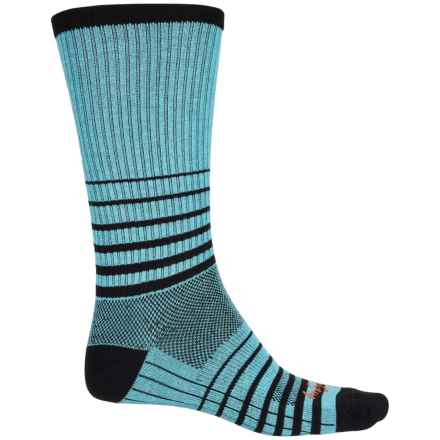 SockGuy Striped Socks - Crew (For Men and Women) in Blue - Closeouts