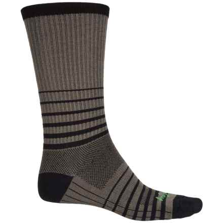 SockGuy Striped Socks - Crew (For Men and Women) in Grey - Closeouts