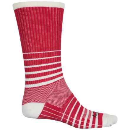 SockGuy Striped Socks - Crew (For Men and Women) in Red - Closeouts