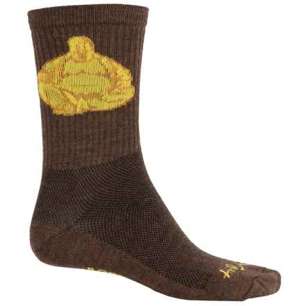 SockGuy Wool Socks - Crew (For Men and Women) in Pu-Tai - Closeouts