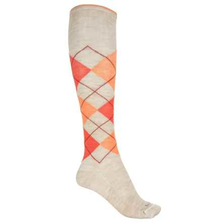 Sockwell Argyle Socks - Merino Wool, Over the Calf (For Women) in Barley - Closeouts