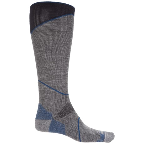 Sockwell Ascend Compression Socks - Merino Wool, Over the Calf (For Men) in Grey