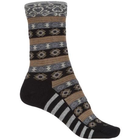 Sockwell Bandeau Socks - Merino Wool, Crew (For Women) in Black