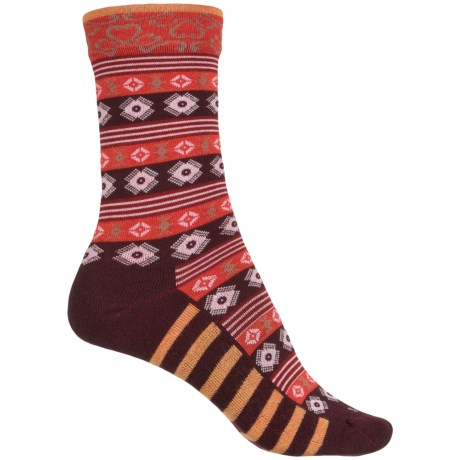 Sockwell Bandeau Socks - Merino Wool, Crew (For Women) in Port