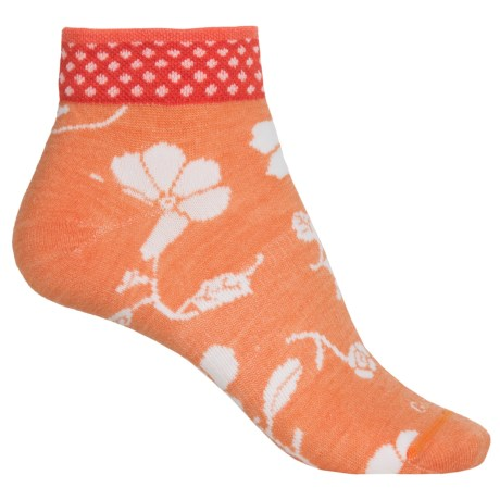 Sockwell Botany Pop Socks - Merino Wool, Ankle (For Women) in Tangy