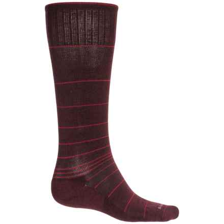 Sockwell Circulator Compression Socks - Merino Wool Blend, Over the Calf (For Men) in Port - Closeouts
