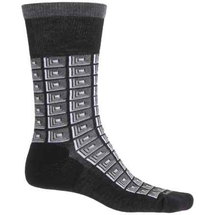 Sockwell Cubist Socks - Merino Wool, Crew (For Men) in Black - Closeouts