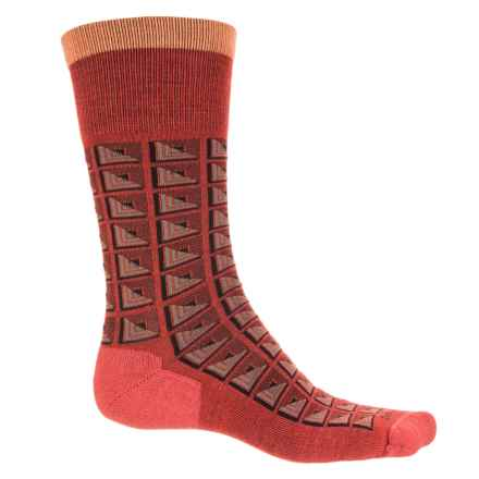 Sockwell Cubist Socks - Merino Wool, Crew (For Men) in Poppy - Closeouts