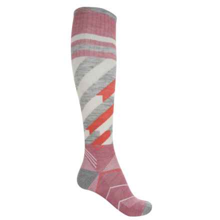 Sockwell Cyclone Compression Socks - Merino Wool, Over the Calf (For Women) in Rose - Closeouts