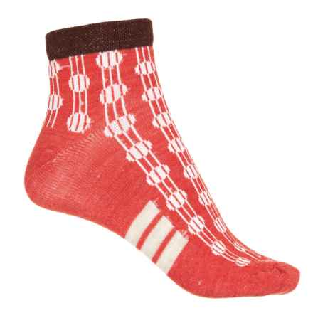 Sockwell Deco Dots Shortie Socks - Ankle (For Women) in Poppy - Closeouts