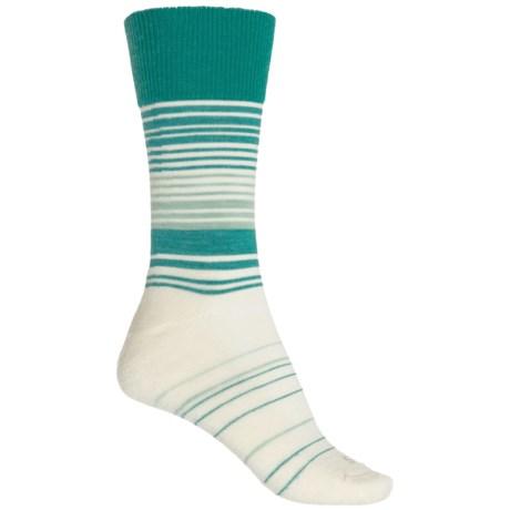 Sockwell Easy Does It Relaxed Fit Diabetic Socks - Merino Wool Blend, Crew (For Women) in Mineral