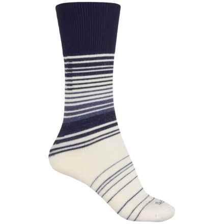Sockwell Easy Does It Relaxed Fit Diabetic Socks - Merino Wool Blend, Crew (For Women) in Navy - Closeouts
