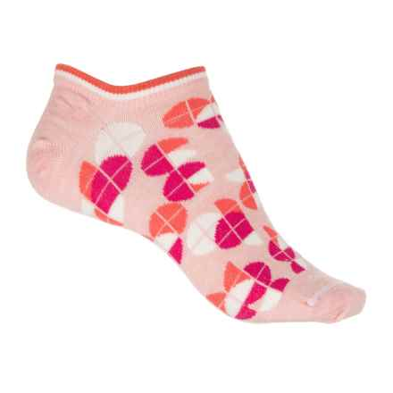 Sockwell Essentials Diskette Micro Socks - Merino Wool, Below the Ankle (For Women) in Rose - Closeouts