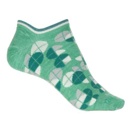 Sockwell Essentials Diskette Micro Socks - Merino Wool, Below the Ankle (For Women) in Spearmint - Closeouts