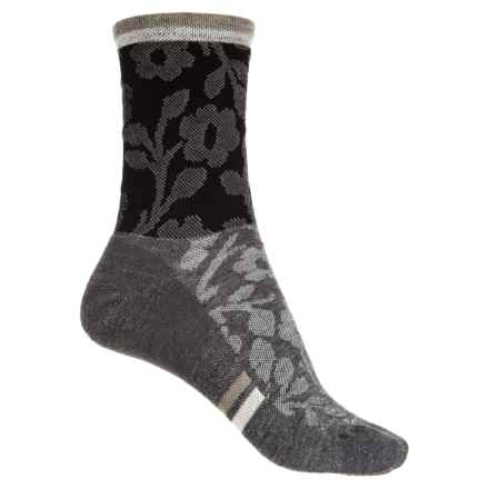 Sockwell Flower Power Socks - Merino Wool, Crew (For Women) in Black - Closeouts