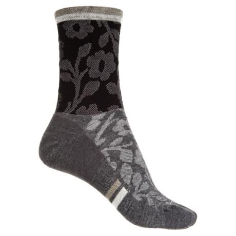 Sockwell Flower Power Socks - Merino Wool, Crew (For Women) in Black