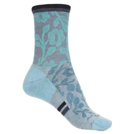 Sockwell Flower Power Socks - Merino Wool, Crew (For Women) in Bluestone - Closeouts