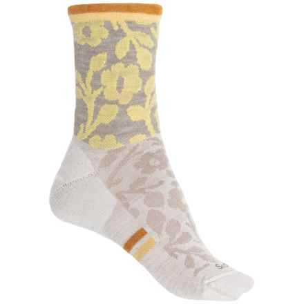 Sockwell Flower Power Socks - Merino Wool, Crew (For Women) in Khaki - Closeouts