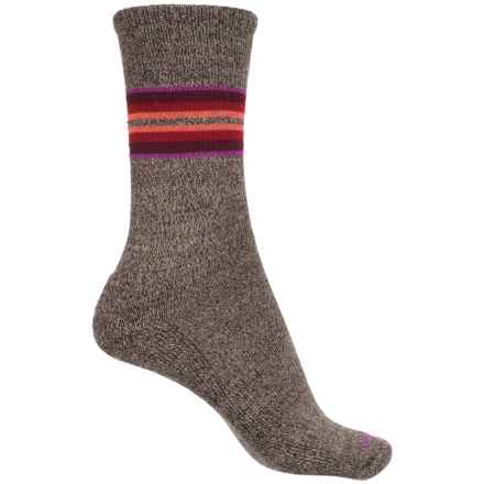 Sockwell Hot Springs Socks - Merino Wool, Crew (For Women) in Brown - Closeouts