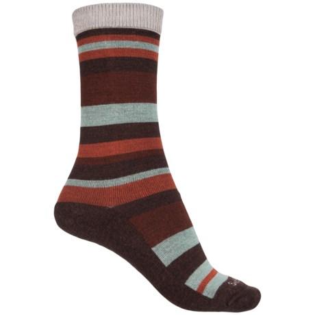 Sockwell Kick Back Diabetic Friendly Socks - Merino Wool, Crew (For Women) in Espresso