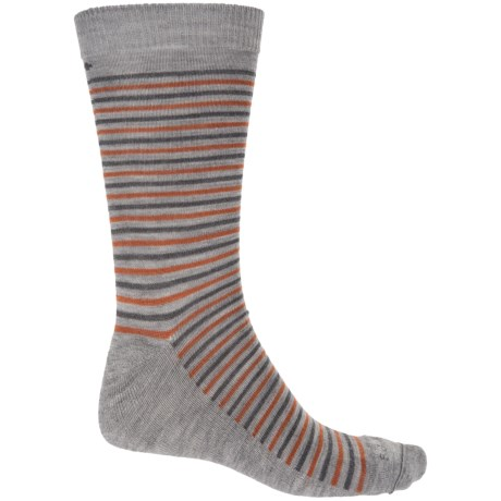 Sockwell Kick Back Socks - Merino Wool, Crew (For Men) in Grey