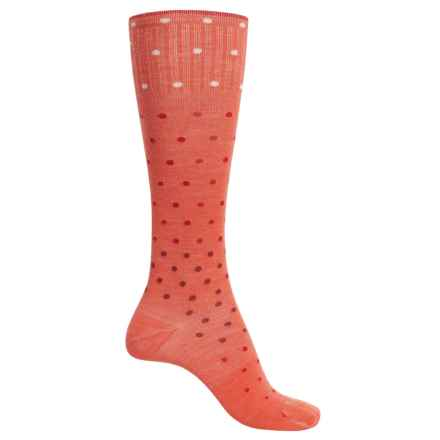 Sockwell On the Spot Compression Socks - Merino Wool, Over the Calf (For Women) in Guava - Closeouts