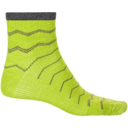 Sockwell Plantar Ease Socks - Merino Wool, Quarter Crew (For Men) in Limelight - Closeouts