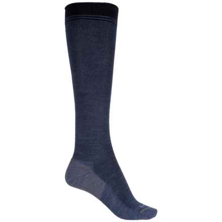 Sockwell Rejuvenator Compression Socks - Merino Wool Blend, Over the Calf (For Women) in Denim - Closeouts