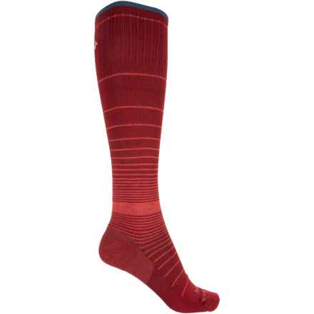 Sockwell Revolution Graduated Compression Socks - Merino Wool, Over the Calf (For Women) in Ruby - Closeouts