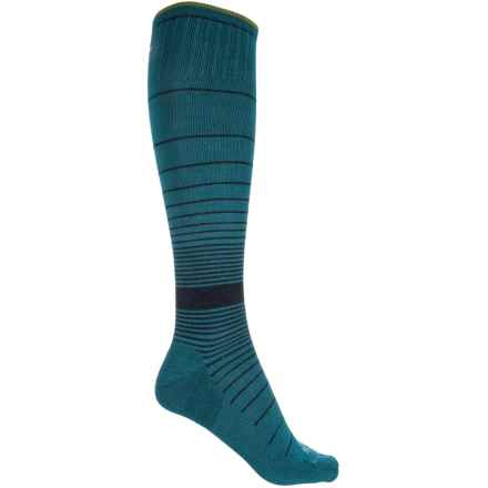 Sockwell Revolution Graduated Compression Socks - Merino Wool, Over the Calf (For Women) in Teal - Closeouts
