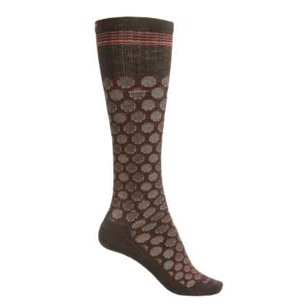 Sockwell Shadow Dot Graduated Compression Socks - Lightweight, Over-the-Calf (For Women) in Espresso - Closeouts