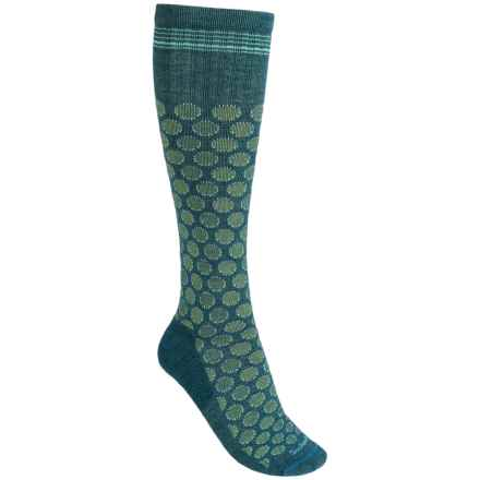 Sockwell Shadow Dot Graduated Compression Socks - Lightweight, Over-the-Calf (For Women) in Teal - Closeouts