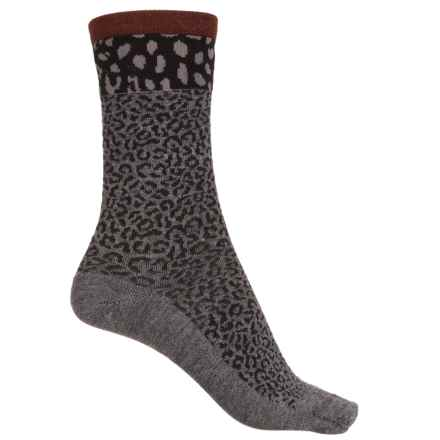 Sockwell Sheetah Socks - Merino Wool, Crew (For Women) in Charcoal - Closeouts