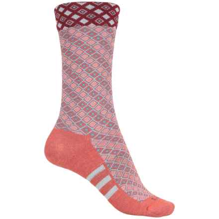 Sockwell The Avenue Socks - Merino Wool, Crew (For Women) in Guava - Closeouts